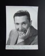 Autografo Paolo Stoppa Attore E Doppiatore Foto Dial Roma Teatro - Autographs