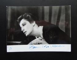 Autografo Anna Proclemer Attrice Doppiatrice  Foto Crimella Milano 1959 Teatro - Autographs
