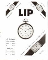 """PUB   MONTRES  """" LIP """"   1930  ( 4 ) - Joyas & Relojería"""