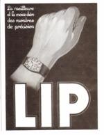 """PUB   MONTRES  """" LIP """"   1930  ( 5 ) - Joyas & Relojería"""