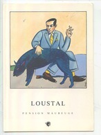Pension Maubeuge - Loustal Illustrateur - Texte Charlélie Couture (cp Vierge) - Bandes Dessinées