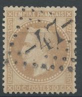 Lot N°46966  N°28B, Oblit GC -47- Alais, Gard (29) - 1863-1870 Napoleon III With Laurels