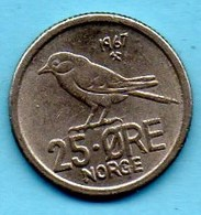 NORWAY / NORVEGE  25 ORE 1967 - Norvège