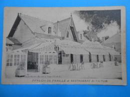 """17 ) Chatelaillon - """" Façade """" Pension De Famille Et Restaurant St-victor - FAIVRE Propriétaire - Année - EDIT : Rivière - Châtelaillon-Plage"""