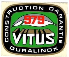 -- 979 VITUS -  CONSTRUCTION GARANTIE DURALINOX  - Autocollant -- - Stickers