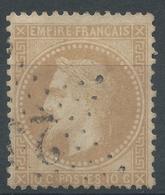 Lot N°46967  Variété/n°28A, Oblit étoile Chiffrée 25 De PARIS (R. Serpente), Filet NORD - 1863-1870 Napoleon III With Laurels