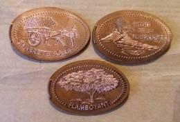 La Réunion-974 /Hall De L'aéroport - Pièces écrasées (Elongated Coins)