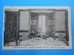 """17 ) Chatelaillon  """" Salle à Manger """" Pension De Famille Et Restaurant St-victor - FAIVRE Propriétaire - EDIT : Rivière - Châtelaillon-Plage"""