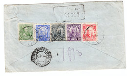 Brazil GOOD FRANKING 5 COLOURS REGISTERED COVER 1923 - Brazil