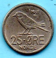 NORWAY / NORVEGE  25 ORE 1969 - Norvège