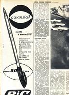 (pagine-pages)PUBBLICITA' BIC  Settimanaincom1956/18. - Livres, BD, Revues