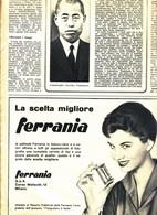 (pagine-pages)PUBBLICITA' FERRANIA  Settimanaincom1956/18. - Livres, BD, Revues