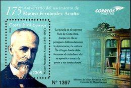 Costa Rica 2018 ** BF 175 Aniversario De Mauro Fernández Acuña. Político, Abogado Y Catedrático. - Costa Rica