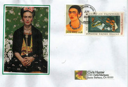Frida Kahlo (Mexican Artist) Letter USA To California - Künste