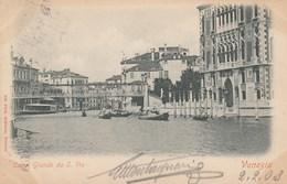 VENEZIA-CANAL GRANDE DA SAN VIO-CARTOLINA VIAGGIATA IL 2-2-1903 - Venezia (Venice)