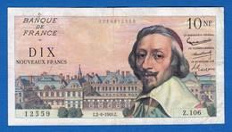 10  Nf   2/6/1960 - 1959-1966 ''Nouveaux Francs''