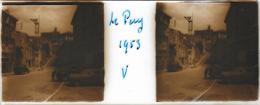 Plaque De Verre Stéréoscopique Positive - Année 1953 - Le Puy En Velay - Plaques De Verre