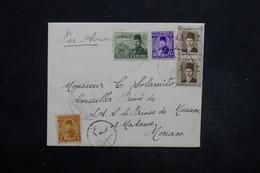 EGYPTE - Enveloppe Pour Monaco En 1951 , Affranchissement Multiple Plaisant - L 25601 - Covers & Documents