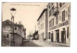 42 Saint Galmier Entrée Par La Route De Bellegarde Cpa Hotel Du Commerce - Other Municipalities