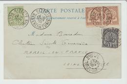 "TUNISIE: "" BIZERTE / REGENCE DE TUNIS  "" CàD Type A2 / CPA De 1900 Pour Mareil TB - Tunisia (1888-1955)"