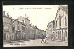 CPA Epinal, La Rue De L`Ancien Hospice, La Synagogue - Epinal