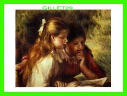 ARTS, PAINTING - LA LECTURE - PIERRE-AUGUSTE RENOIR, 1841-1919 - OIL ON CANVAS - - Peintures & Tableaux