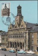 FDC112 - FRANCE N° 1499 Hôtel De Ville De St-Quentin Sur Carte Maximum 1967 - Cartes-Maximum