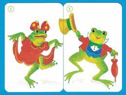 2 CARTES GRENOUILLE  / AU DOS CHAT - Cartes à Jouer Classiques