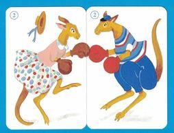 2 CARTES KANGOUROU  / AU DOS CHAT - Cartes à Jouer Classiques