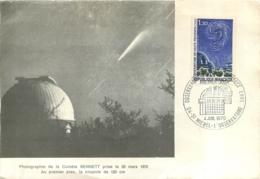 CARTE  OBSERVATOIRE DE HAUTE PROVENCE SAINT MICHEL PREMIER JOUR 1970 - Cartes-Maximum