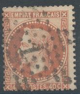 Lot N°46976  N°31a Orage Vif, Oblit étoile Chiffrée 1 De PARIS (Pl De La Bourse) - 1863-1870 Napoleon III With Laurels