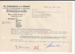 Reichstatthalter In Der Westmark Zivilverwaltung In Lothringen Metz 1942 Occupation Allemande Moselle - Historische Documenten