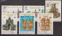 Culture Khmère - KAMPUCHEA - Temple De Srah Srang, Ta Som, Angkor - N° 376 à 381 - 1983 - Kampuchea