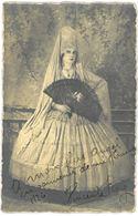 CARTE PHOTO - Femme En Costume De Folklore Espagnol - Année 1926 - Espagne