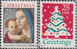 USA 2114A-2115A (kompl.Ausg.) Postfrisch 1990 Weihnachten - Vereinigte Staaten