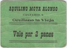 España - Spain 2 Panes Orellana La Vieja (Badajoz) Ref 4 - [ 3] 1936-1975 : Régimen De Franco