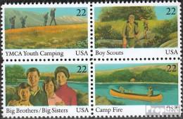 USA 1772-1775 Viererblock (kompl.Ausg.) Postfrisch 1985 Jugendorganisation - Vereinigte Staaten