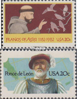 USA 1604,1605 (kompl.Ausg.) Postfrisch 1982 Heiliger Franz Von Assisi, Leon - Vereinigte Staaten