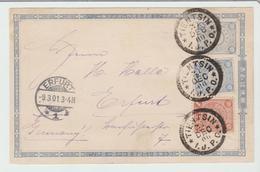 """JAPON : """" TIEN SIN / I.J.P.O """" / Ent C.L De 1900 Pour Erfurt TB - Japon"""