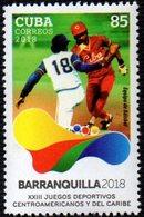 CUBA 2018 - 23rd CENTRO AMERICAN & CARRIBEAN GAMES - BASEBALL - MINT - Base-Ball