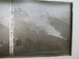 CHAMONIX - GLACIER DES BOSSONS   -  Plaque De Verre Stéréoscopique 6 X 13 - TBE - Plaques De Verre