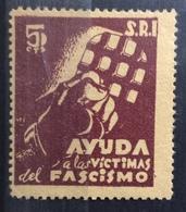 AIUTA LE VITTIME DEL FASCISMO  S.R.I. 5 C. - Erinnophilie