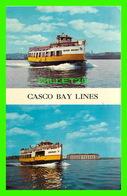 "SHIP, BATEAU - "" ISLAND HOLIDAY ' & "" ABENAKI "" - CASCO BAY LINES - PORTLAND , MAINE - - Commerce"