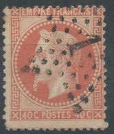Lot N°46981  Variété/n°31, Oblit étoile Chiffrée 1 De PARIS (Pl De La Bourse), Piquage - 1863-1870 Napoleon III With Laurels
