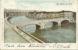 Pisa (Toscana) Ponte Solferino Sul Fiume Arno, Solferino Bridge, Pont Solferino - Pisa