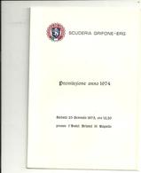 SCUDERIA  GRIFONE  1974   PREMIAZIONE   HOTEL  BRISTOL  RAPALLO  ORIGINALE - Old Paper