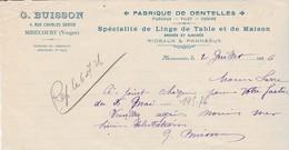 Reçu 1926 (haut De Facture ?) / BUISSON / Fabrique Dentelles, Linge Table, Brodé / 88 Mirecourt Vosges - 1939-45