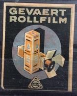 GEVAERT  ROLLFILM  VINTAGE ETICHETTA PUBBLICITARIA - Erinnophilie