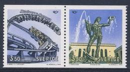 Sweden Sverige 1993 Mi 1773 /2 YT 1754 /5 SG 1686 /5 ** Tourist Attractions In Gothenburg / Touristische Attraktionen - Vakantie & Toerisme