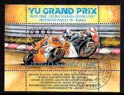 YUGOSLAVIA 1989 Motor-cycle Grand Prix Block Used.  Michel Block 34 - Blocs-feuillets